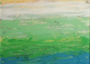 """From a Distance (right) is a 12""""x24"""" Acrylic on Plexigas. (NFS, Personal collection)."""