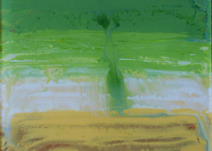 """Immersion (left) is a 12""""x24"""" Acrylic on Plexiglas. (NFS, Personal collection)."""