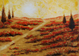 "A Lonesome Path is a 24""x30"" Oil available directly thru the artist"