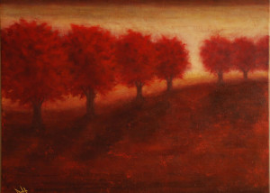 "Autumn Glow is a 24""x30"" Acrylic available thru Art Gallery H"
