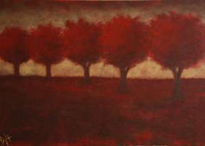 "Autumn Trees is a 24""x36"" Acrylic available thru Art Gallery H"