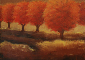 "One Autumn Day is a 20""x20"" Acrylic available thru Art Gallery H"