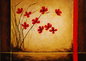 Red Poppies -SOLD