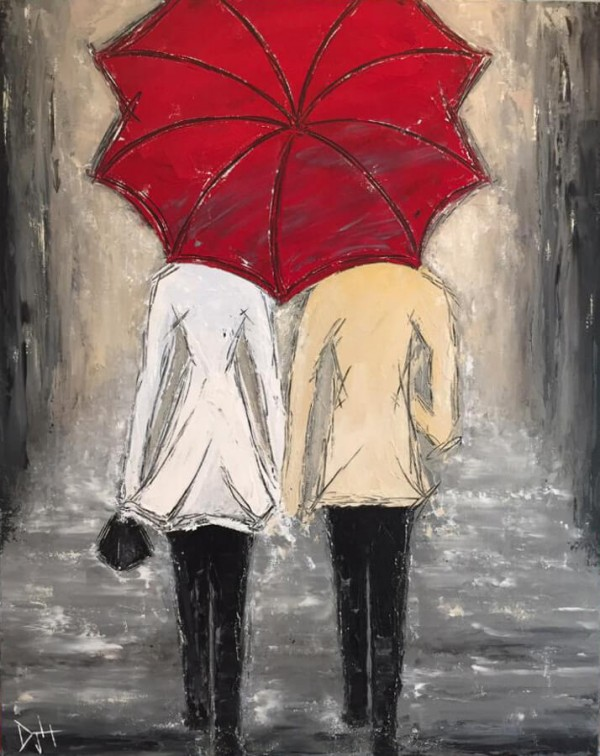 Shared Umbrella by Deb Houston